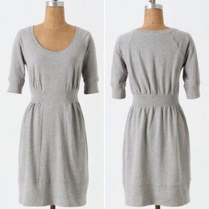 Anthro Pure + Good Sweatshirt Chemise Ribbed Dress